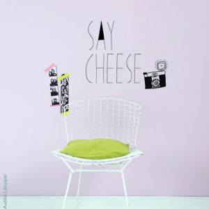 'Say Cheese' Wall Sticker