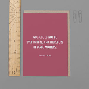 'And Therefore He Made Mothers' Mother's Day Card - last-minute cards & wrap