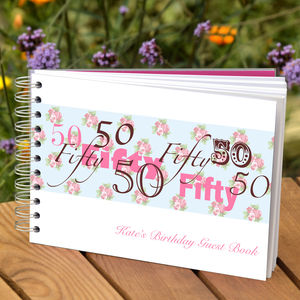 Personalised 50th Birthday Guest Book