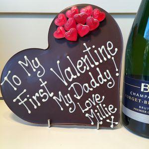 'To My First Valentine' Chocolate Heart - whatsnew