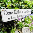 Personalised 'Come Gather In Our Garden' Sign