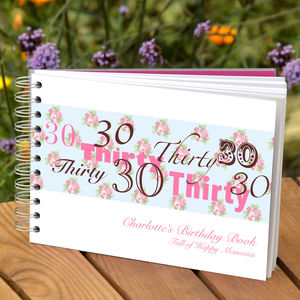 Personalised 30th Birthday Guest Book