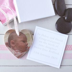 Wooden Heart Photograph Baby Keepsake - home accessories
