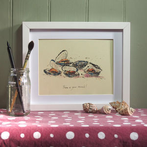 Show Us Your Mussels Print - animals & wildlife