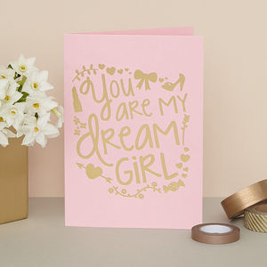 'You Are My Dream Girl' Card