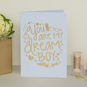 'You Are My Dream Boy' Card