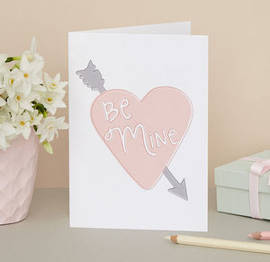 'Be Mine' Card - shop by category