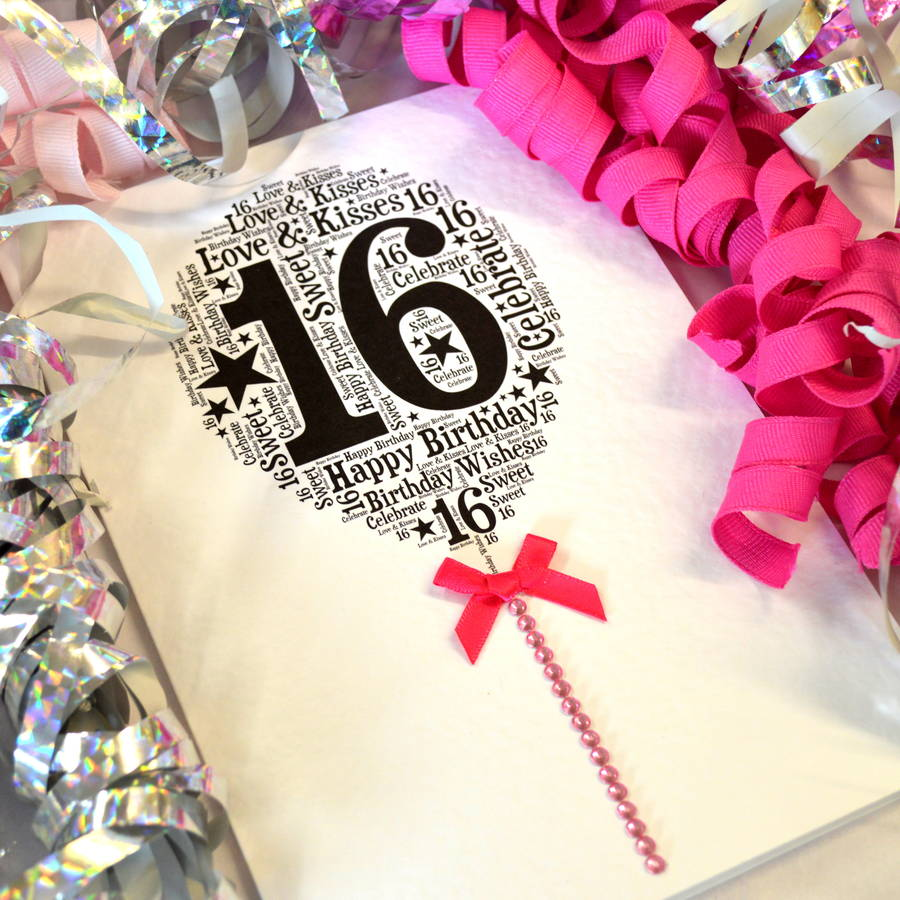 16th Birthday Cards – Happy Sweet 16 Birthday Cards