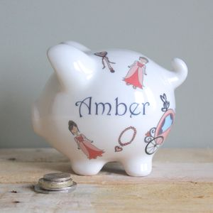 Personalised Fairytale Piggy Bank