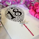 18th Happy Birthday Balloon Sparkle Card