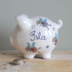 Personalised Fairies Piggy Bank - storage & organisers