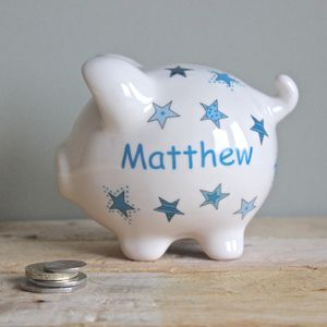 Personalised Star Piggy Bank