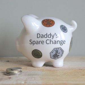 Personalised Loose Change Piggy Bank