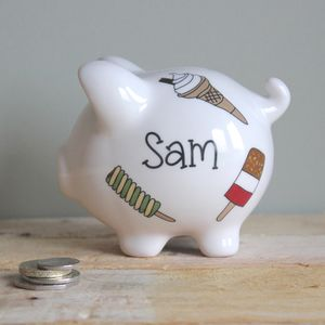 Personalised Ice Lollies Piggy Bank