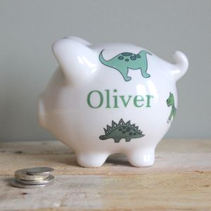 Personalised Dinosaur Piggy Bank