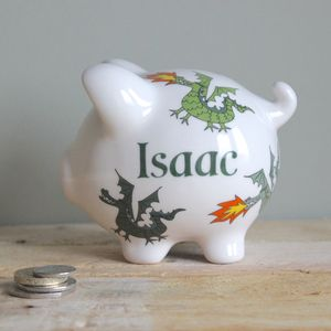 Personalised Dragon Piggy Bank