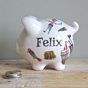 Personalised Pirate Piggy Bank