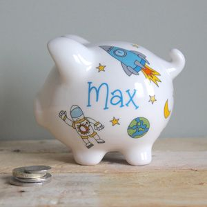 Personalised Space Piggy Bank