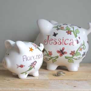 Personalised Piggy Bank For Girls - keepsakes