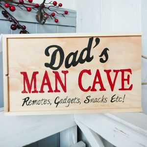 Personalised Man Cave Storage Box - office & study