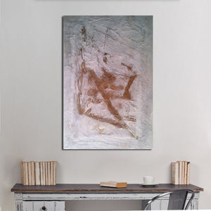 Golden Gesture Mixed Media Painting - modern & abstract
