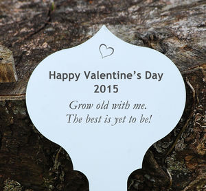 Personalised Valentine Tree Or Garden Plaque - tools & equipment