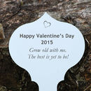 Personalised Valentine Garden Plaque And Tree Seedling