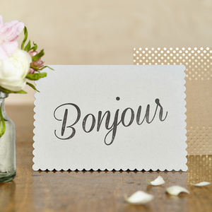 Luxe Bonjour Card