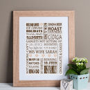 Personalised 'Loves' Print