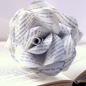 'Choose Your Book' Literary Paper Rose