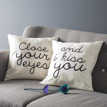 'Close Your Eyes' Cushion Cover Set