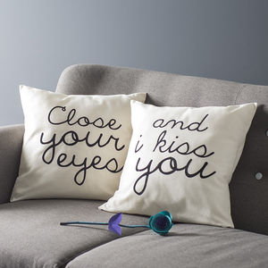 'Close Your Eyes' Cushion Cover Set - cushions