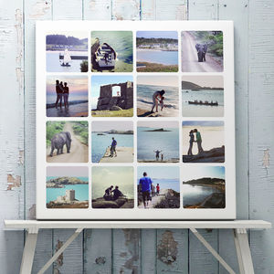 Personalised Photo Collage Canvas Or Print - photography & portraits