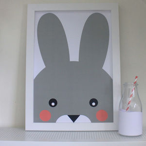 Children's Bunny Rabbit Print - posters & prints for children