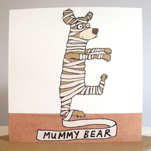 'Mummy' Bear Mother's Day Card - winter sale