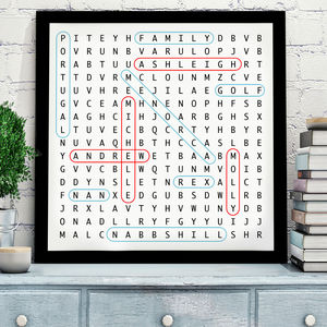 Personalised Word Search Art