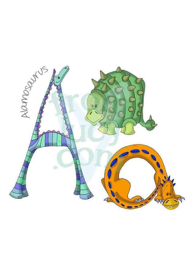 personalised dinosaur alphabet children u0026 39 s print by fromlucy