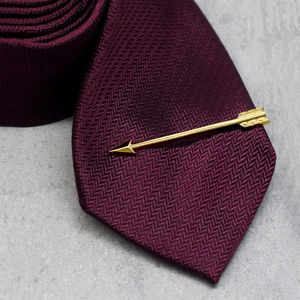Gold Arrow Tie Clip - men's jewellery