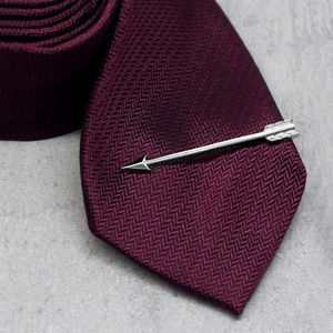 Silver Arrow Tie Clip - men's jewellery