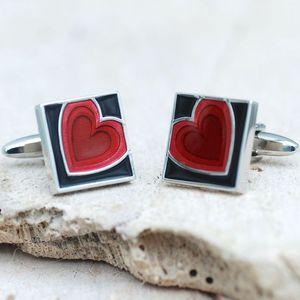 Personalised Beating Heart Cufflinks