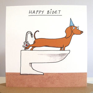 'Happy Bidet' Card