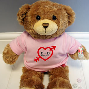 Personalised Love Heart Bear - soft toys & dolls