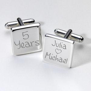 Personalised Anniversary Cufflinks