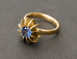 Blue Sapphire Gold Ring - valentines wish list