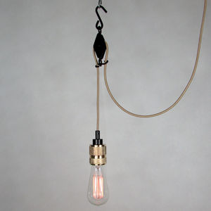 Contemporary Pulley Pendant - lighting