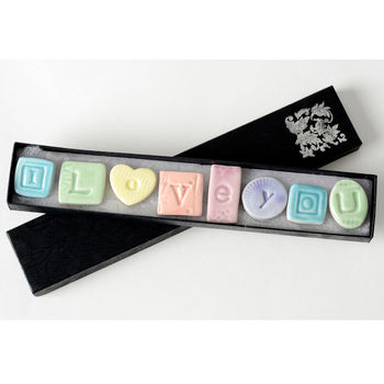 Porcelain 'I Love You' Magnets