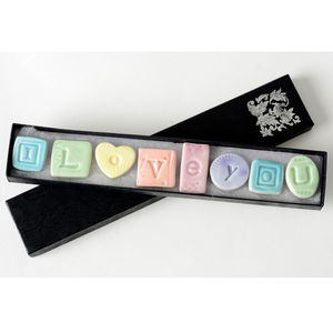 Porcelain 'I Love You' Magnets - children's room