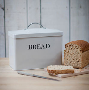 Bread Bin In Chalk White