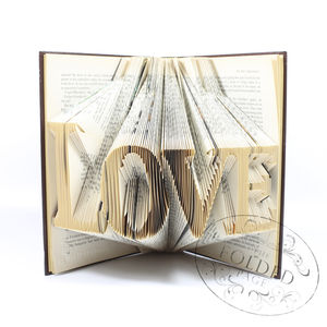 'Love' Folded Book Decoration - book-lover