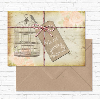 Wedding Stationery Collection 'Rustic Notebook'